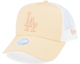 Los Angeles Dodgers Womens League Essential Peach/White Trucker - New Era