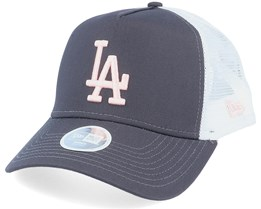 Los Angeles Dodgers Womens League Essential Dark Grey/Peach/White Trucker - New Era