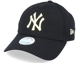 New York Yankees Womens League Essential 9Forty Black/Light Yellow Adjustable - New Era