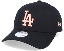 Los Angeles Dodgers Womens League Essential 9Forty Black/Peach Adjustable - New Era