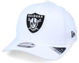 Oakland Raiders White Base 9Fifty White/Black Adjustable - New Era