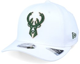 Milwaukee Bucks White Base 9Fifty White/Green Adjustable - New Era