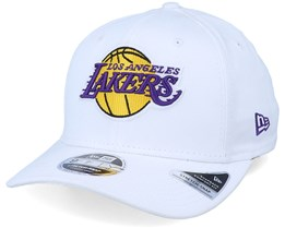 LA Lakers White Base 9Fifty White Adjustable - New Era