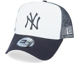 New York Yankees Colour Block OTC White/Black Trucker - New Era