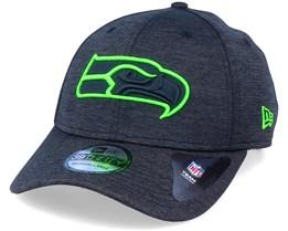 Seattle Seahawks Shadow Tech 39Thirty Black/ Neon Green Flexfit - New Era