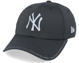 New York Yankees Performance Fabric License 9Forty Black/Grey Adjustable - New Era