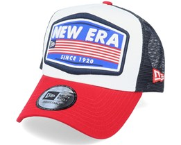 Ne Usa Patch Trucker White/Red/Black Trucker - New Era
