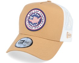 NE Usa Patch Trucker Camel/White Trucker - New Era