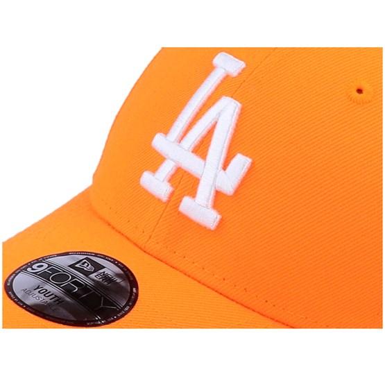 New Era 9Forty KIDS Cap Los Angeles Dodgers neon orange