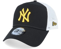 New York Yankees League Essential Black/Yellow/White Trucker - New Era