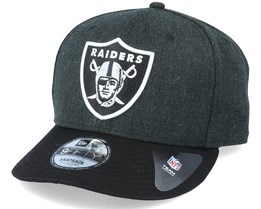Oakland Raiders Heather Crown 9Fifty Black Adjustable - New Era