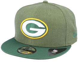 Green Bay Packers Heather Crown 9Fifty Green Snapback - New Era