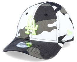 Kids Los Angeles Dodgers Camo Essential 9Forty Camo/Neon Yellow Adjustable - New Era