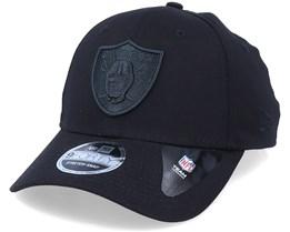 Oakland Raiders Black On Black 9Forty Black Adjustable - New Era
