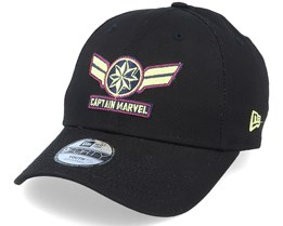 9Forty Captain Marvel Black Adjustable - New Era