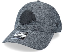 Chicago Blackhawks Authentic Pro T&T Unstructured Black Dad Cap - Fanatics