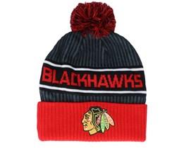 Chicago Blackhawks Authentic Pro Locker Room Black/Red Pom - Fanatics