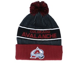 Colorado Avalanche Authentic Pro Locker Room Black/Maroon Pom - Fanatics