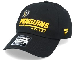 Pittsburgh Penguins Authentic Pro Locker Room Dad Cap Black Adjustable - Fanatics