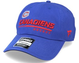 Montreal Canadiens Authentic Pro Locker Room Dad Cap Blue Adjustable - Fanatics