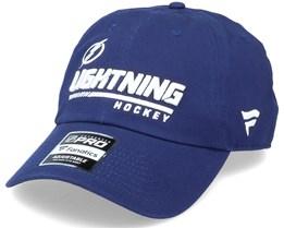Tampa Bay Lightning Authentic Pro Locker Room Dad Cap Blue Adjustable - Fanatics