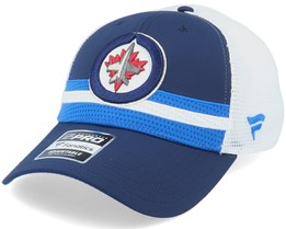 Winnipeg Jets Authentic Pro Draft Navy/White Trucker - Fanatics