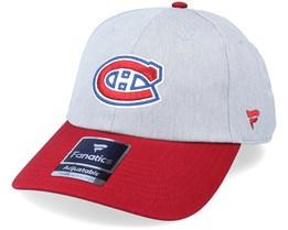 Montreal Canadiens Grey Marl Unstructured Sports Grey/Maroon Dad Cap - Fanatics