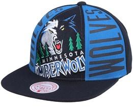 Minnesota Timberwolves Big Face Callout Hwc Black Snapback - Mitchell & Ness