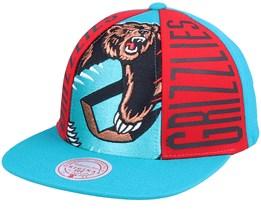 Memphis Grizzlies Big Face Callout Hwc Teal Snapback - Mitchell & Ness