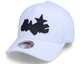 Orlando Magic Casper Stretch HWC White Adjustable - Mitchell & Ness