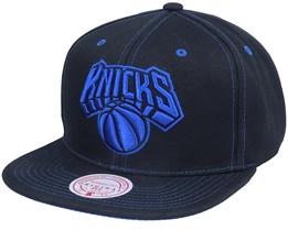 New York Knicks Contrast Stitch Black Snapback - Mitchell & Ness