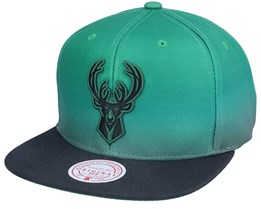 Milwaukee Bucks Color Fade Green/Black Snapback - Mitchell & Ness