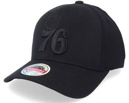 Philadelphia 76ers Blacklight Black Adjustable - Mitchell & Ness