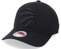 Toronto Raptors Blacklight Black Adjustable - Mitchell & Ness
