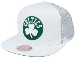 Boston Celtics Cool Down White Trucker - Mitchell & Ness