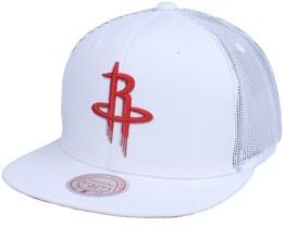 Houston Rockets Cool Down White Trucker - Mitchell & Ness