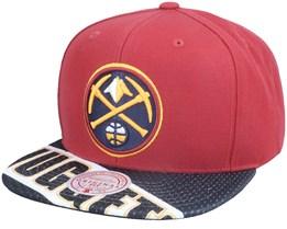 Denver Nuggets Slash Century Red/Navy Snapback - Mitchell & Ness