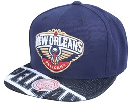 New Orleans Pelicans Slash Century Navy Snapback - Mitchell & Ness