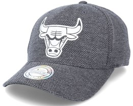 Chicago Bulls Herringbon Reflective Grey Heather 110 Adjustable - Mitchell & Ness