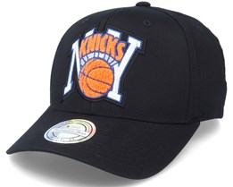 New York Knicks Letterman Black Adjustable - Mitchell & Ness
