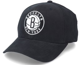 Brooklyn Nets Cardinal Black Adjustable - Mitchell & Ness