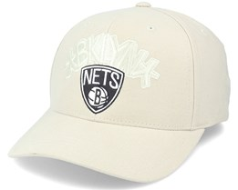 Brooklyn Nets Tonal Khaki 110 Adjustable - Mitchell & Ness