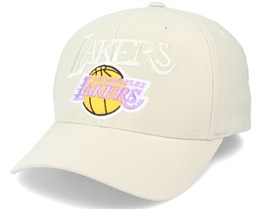 LA Lakers Tonal Khaki 110 Adjustable - Mitchell & Ness