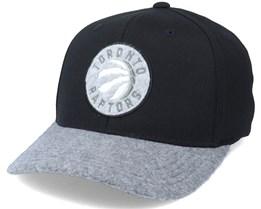 Toronto Raptors Greytone Fleece Black/Grey Adjustable - Mitchell & Ness