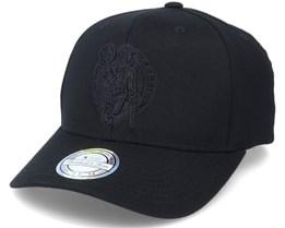 Boston Celtics Black/Black Logo Black 110 Adjustable - Mitchell & Ness