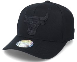 Chicago Bulls Black/Black Logo Black 110 Adjustable - Mitchell & Ness