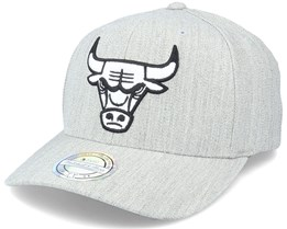 Chicago Bulls Black/White Logo Heather Grey 110 Adjustable - Mitchell & Ness