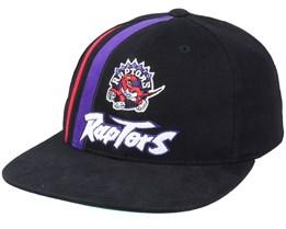 Toronto Raptors Team Stripe Deadstock Black Snapback - Mitchell & Ness