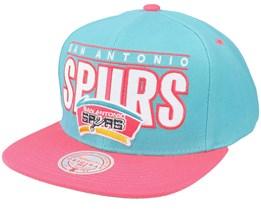 San Antonio Spurs Billboard Classic Hwc Teal/Pink Snapback - Mitchell & Ness