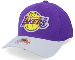 Los Angeles Lakers Spot Lights Stretch Purple/Grey Adjustable - Mitchell & Ness